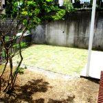 陽当たりの良いお庭です