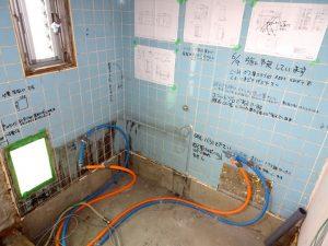 リフォーム中浴室