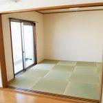 お洒落な琉球畳、和室にもバルコニーが付いています(寝室)
