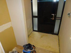 解体後玄関