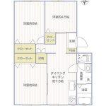 マボリシーハイツ9号棟507号室間取り図