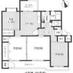 湘南保土ヶ谷マンション5号棟101号室間取り図
